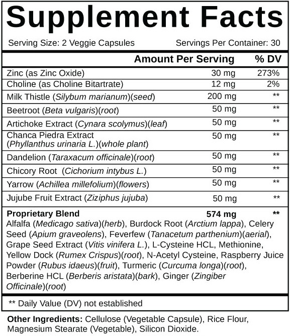 Supplements Facts and List of Ingredients of Liver Support Plus.com